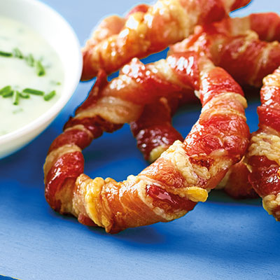 New Year Food Ideas Bacon Onion Rings