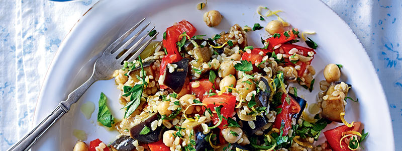 Aubergine Recipes: Chickpea Salad