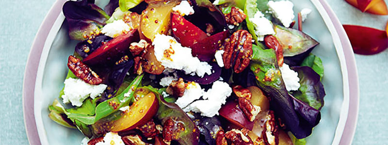 Plum Recipes: Goat's Cheese Salad