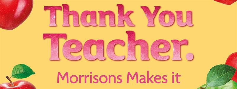Thank You Teacher Gift Ideas - Morrisons