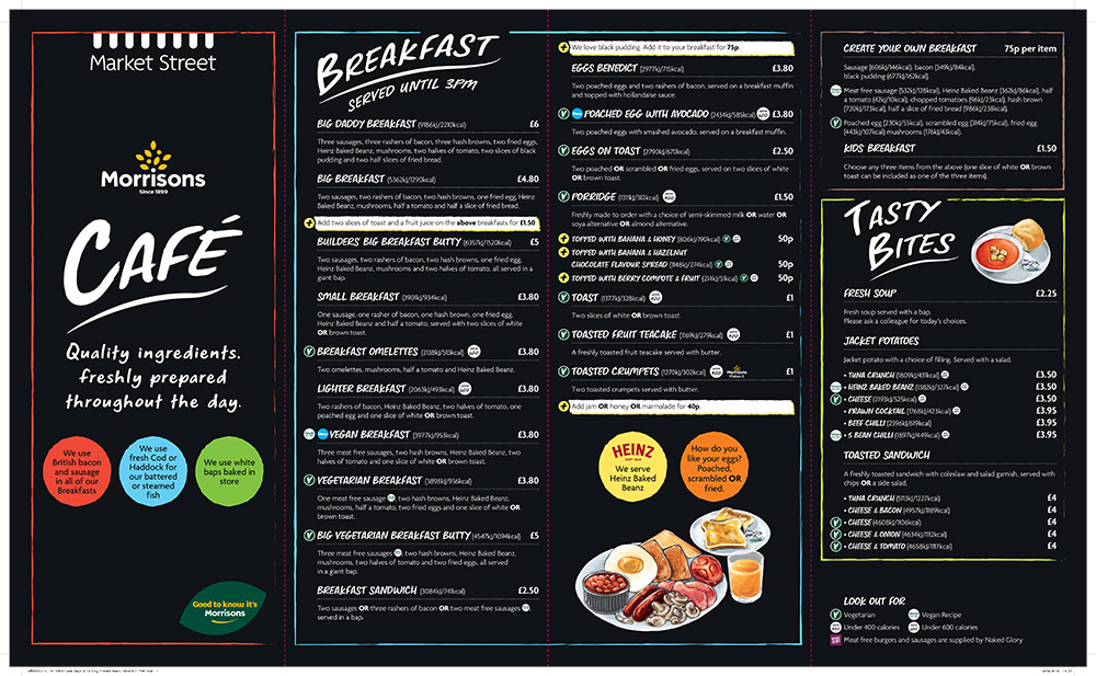 Our Morrisons Cafe Menu Morrisons