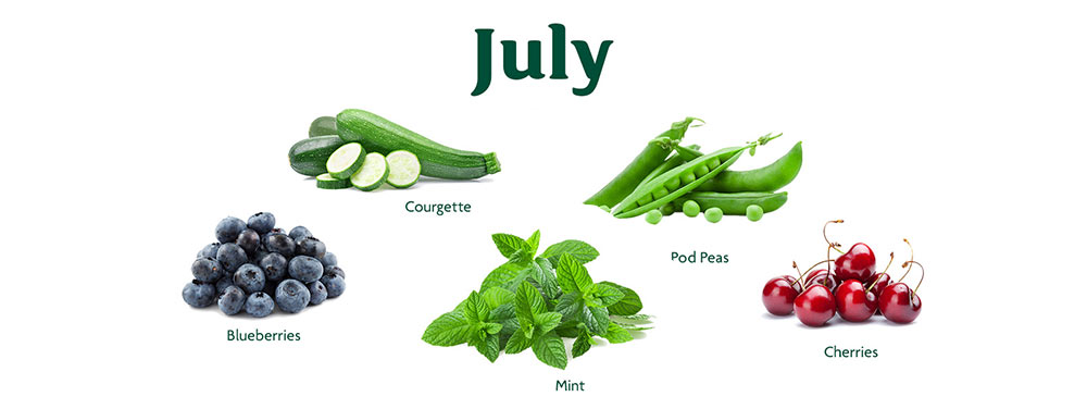 July In Season Vegetables